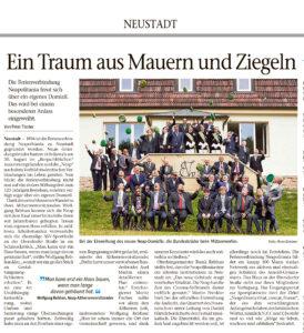 07/2021 - Hauseinweihung, Neue Presse